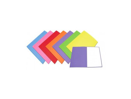 Mapa 250 A4 karton, různé barvy (Barva Žlutá, Formát A4, V balení 100ks)