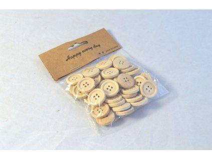 Knoflíky dřevěné 2 cm sáček