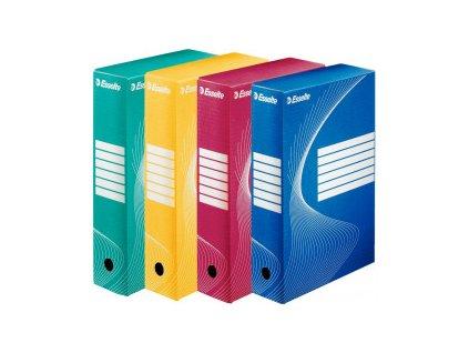 Krabice archivační A4 Esselte barevné (Barva Žlutá, Formát A4, Hřbet 10cm)