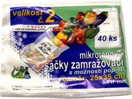 Sáčky zamrazovací mikroténové č.2 25 x 35 cm