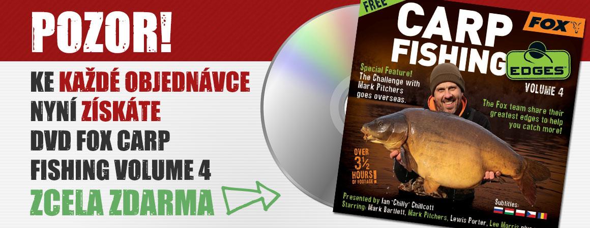 Pozor! Ke každé objednávce nyní získáte DVD FOX Carp Fishing Volume 4 zcela ZDARMA.