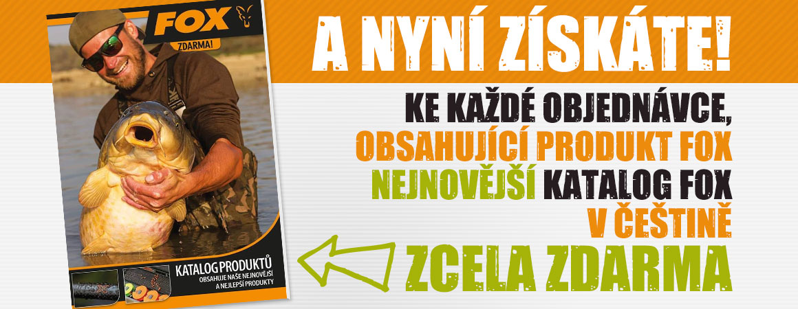 Ke každé objednávce , obsahující produkt Fox, nyní získáte nejnovější katalog FOX v češtině zcela zdarma!