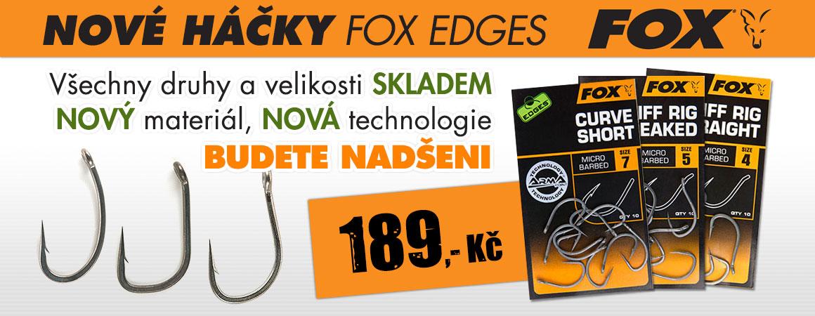 Nové háčky FOX Edges -všechny druhy a velikosti skladem