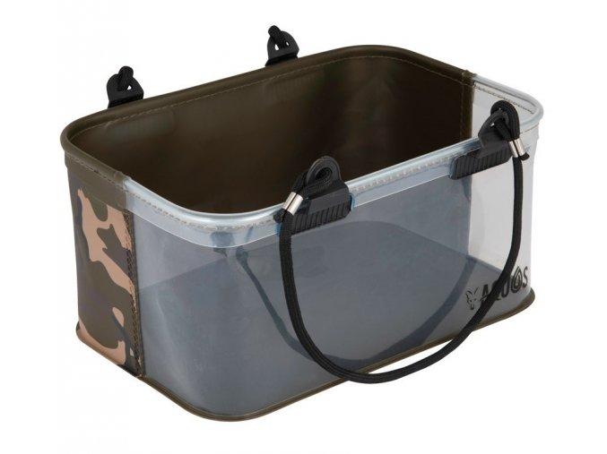 fox aquos camo rig water bucket