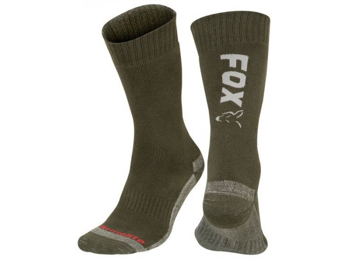 fox ponozky collection green silver thermolite long sock