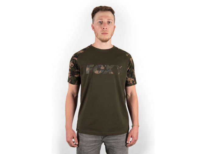 fox triko camo khaki chest print t shirt (3)