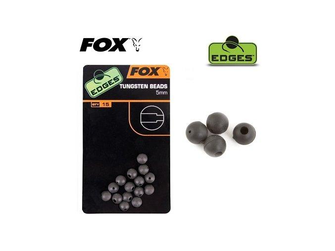 Fox těžké gumové korálky Edges Tungsten Beads