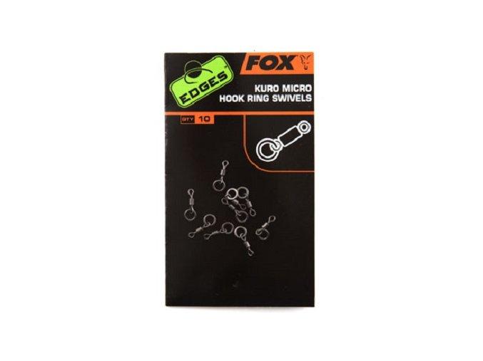 Fox mikro obratlíky Edges Kuro Micro Hook Ring Swivels