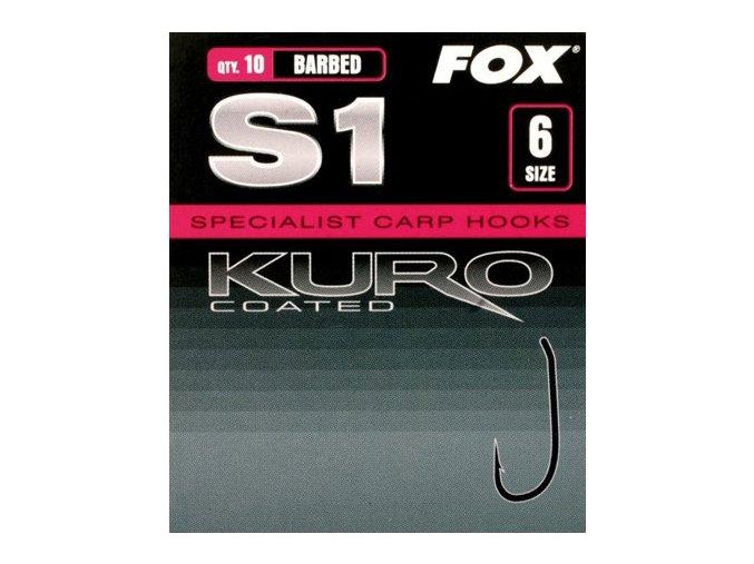 Fox rybářské háčky Kuro S1 (bez protihrotu)