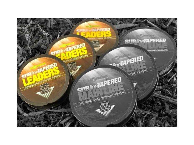 Korda ujímaný vlasec Subline Tapered Leaders