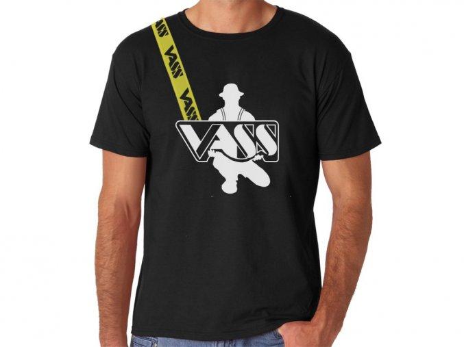 VASS Tričko s krátkým rukávem černé