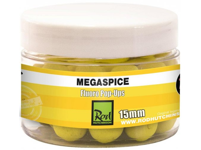 ROD HUTCHINSON PLOVOUCÍ BOILIES FLUORO POP-UPS Megaspice 15mm
