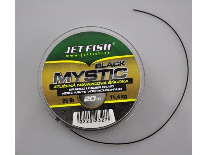 Jet Fish  Návazcová šňůrka BLACK Mystic 25lb/20 m