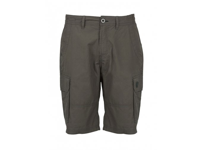 khaki cotton shorts front