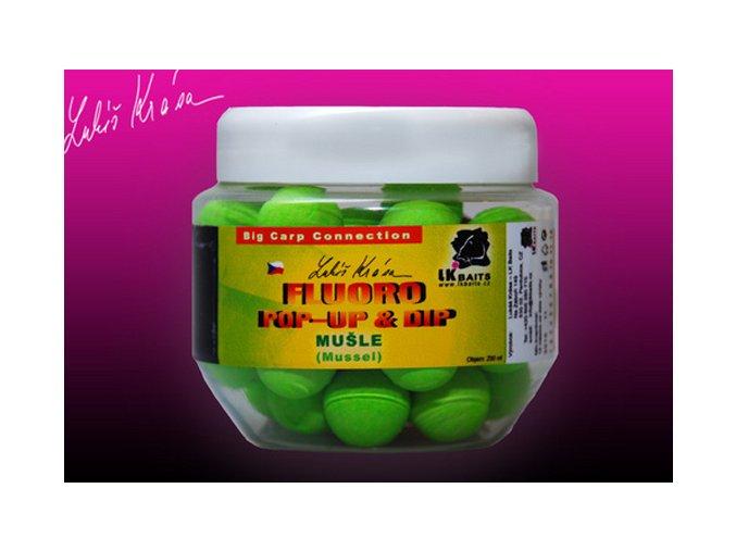 LK Baits plovoucí boilies Pop-Up Fluoro Mušle 18 mm