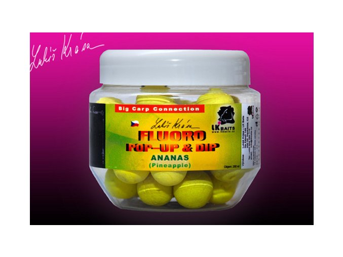LK Baits plovoucí boilies Pop-Up Fluoro Pineapple 14 mm