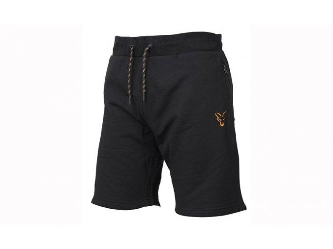 fox collection jogger shorts black orange angled