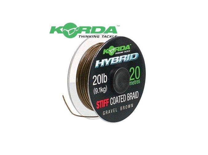 Korda ztužená šňůrka Hybrid Stiff 20lb/15m Brown