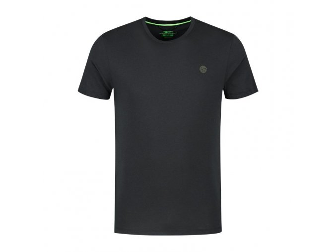 kcl334 le scaley tee black olive print front