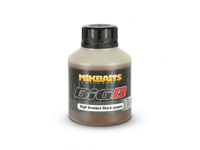 Mikbaits Legends booster 250ml - BigB Broskev Black pepper