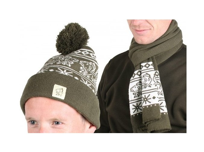 Nash výprodej - vánoční set Xmas Hat & Scarf Set