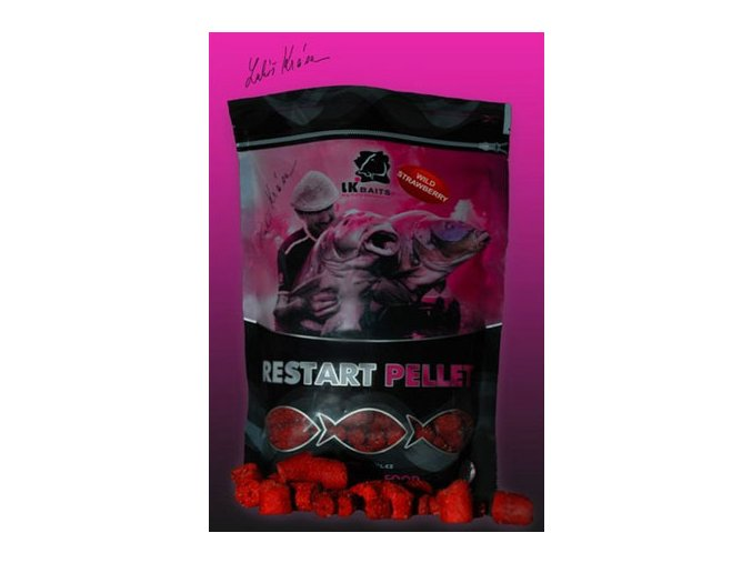 LK Baits pelety ReStart Wild Strawberry