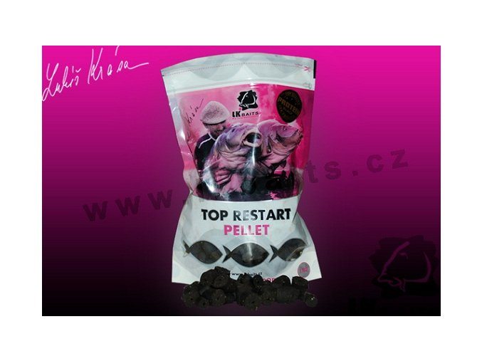 LK Baits pelety Top ReStart Pellet Black Protein