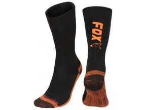 fox ponozky collection black orange thermolite long sock