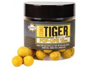 Dynamite Baits plovoucí bilies Pop-Ups Sweet Tiger&Corn 15 mm
