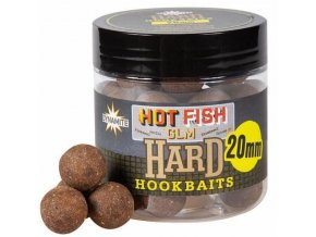 Dynamite Baits tvrzené boilie Hardened Hookbaits Hot Fish&GLM 20 mm