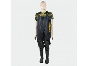 Mikbaits brodící kalhoty - Prsačky Mikbaits Premium Black 42