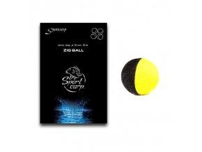 Sportcarp plovoucí pěnové nástrahy Zig Balls černo-žluté 10 mm 10 ks