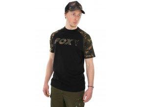 fox triko raglan t shirt black camo