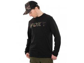 fox triko long sleeve black camo t shirt