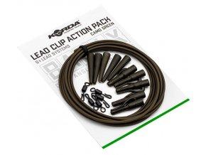 korda montaz basix lead clip action pack camo green 5 ks (2)