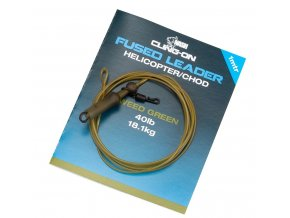 nash montaz cling on fused helicopter chod leader 40lb weed 1 m
