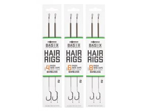 korda navazce basix hair rigs wide gape barbless 2 ks