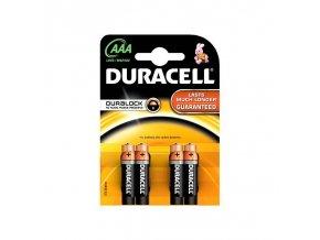 Baterie alkalická Duracell Basic AAA 2400 K4 Duralock