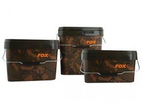 Fox plastové kbelíky Camo Square Buckets