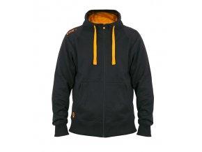 black orange zipped hoody front