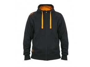 black orange zipped hoody front
