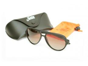 Fortis polarizační brýle Aviator Matte Black