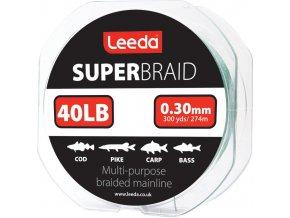 Splétaná šňůra Leeda Super Braid 40lb/274m