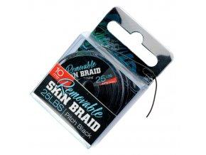 Giants Fishing Splétaná šňůra Removable Skin Braid 35lbs/10m Pitch Black
