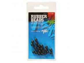 Giants Fishing Gumové kuličky Rubber Beads Transparent Green 4mm,20ks