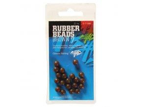 Giants Fishing Gumové kuličky Rubber Beads Transparent Brown 6mm,20ks