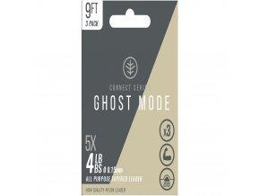 Wychwood Ujímaný návazec Ghost Mode Tapers 3X 9ft 6lb