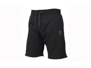 fox collection jogger shorts black orange angled