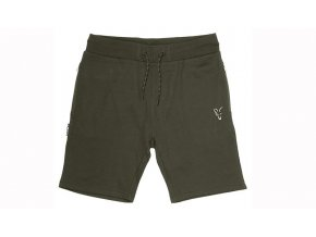 fox collection jogger shorts green silver flat