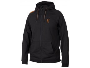 fox mikina collection orange black lightweight hoodie